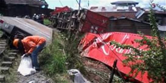 Susto en Buenaventura por descarrilamiento de ferrocarril