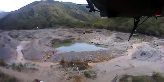 Duras imágenes del daño causado por minería ilegal en el Cauca