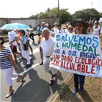 Comunidad del sur de la ciudad marchó en rechazo a proyecto vial