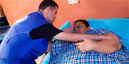 SOS por el hombre más obeso del país