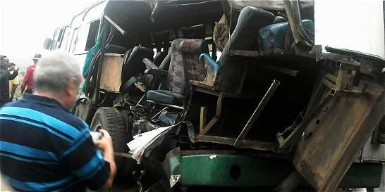 Choque de buses en Jamundí deja 53 heridos