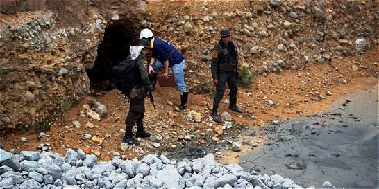 En el Cauca cierran 22 socavones en operativos contra minería ilegal