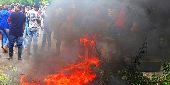 Protesta en el norte del Cauca, tras inundaciones