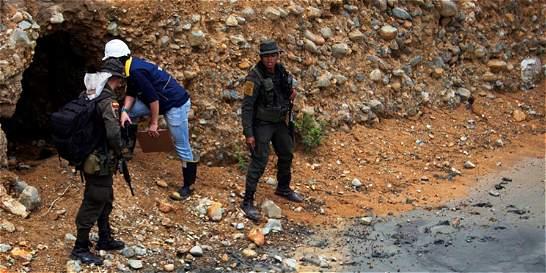 Dos heridos por explosión de una mina en el norte del Cauca