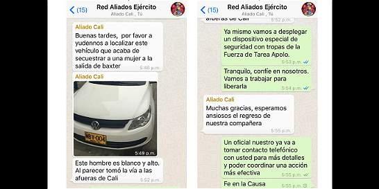 Chat de celular ayudó al rescate de una mujer en Florida (Valle)