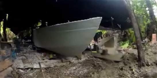 Hallan semisumergible del narcotráfico en el Pacífico caucano