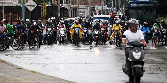 Motociclistas, punto de quiebre en vías de Cali
