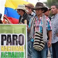 Jornada de bloqueo durante Paro Agrario en el Valle del Cauca