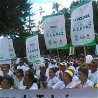 Gran movilización por la paz en el sur del Valle