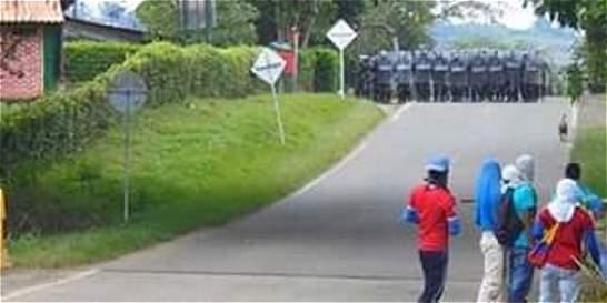 Confrontación entre indígenas y Policía deja tres heridos