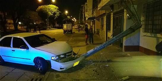 Tres heridos en accidente de vehículo particular en Cali