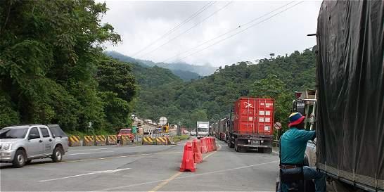 Comunidad de La Yolomba, asustada por obras en la vía a Buenaventura