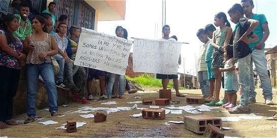 Mujer gravemente herida en enfrentamiento con la policía en el Cauca