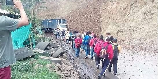 Habilitan parcialmente la vía Buga - Buenaventura