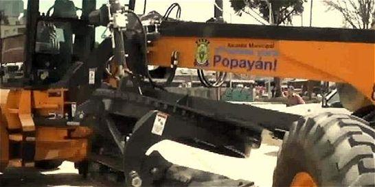 Polémica por uso de maquinaría oficial en lote privado de Popayán