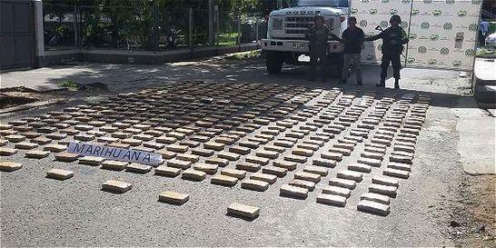 Decomisan marihuana por las vías del Cauca