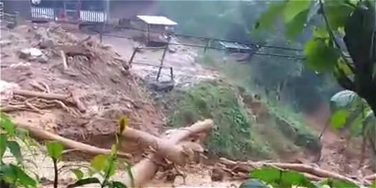 Emergencia por deslizamientos en zona rural del norte del Cauca