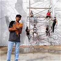 En Roldanillo, Valle, hacen el mural hecho a lápiz más grande del país
