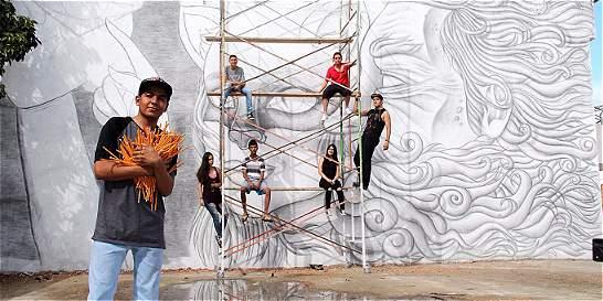 En Roldanillo (Valle) tienen mural hecho a lápiz más grande del país