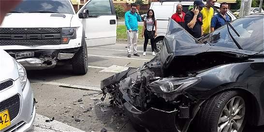 Susto por accidente de tránsito al sur de Cali