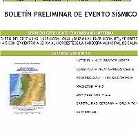 Sismo de 4.5 grados asustó al Valle del Cauca