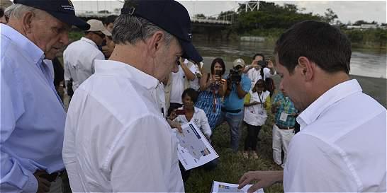 Alerta del presidente Santos por 5.843 hogares en riesgo en Cali