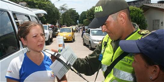 Debate por apoyo de policías en control de tránsito de Villavicencio