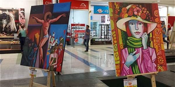 En exposición realizada en Unicentro se exhibió la copia de 'Crucifixión'.