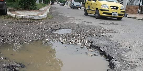En Hacaritama dicen que llevan 2 años con calles afectadas por huecos