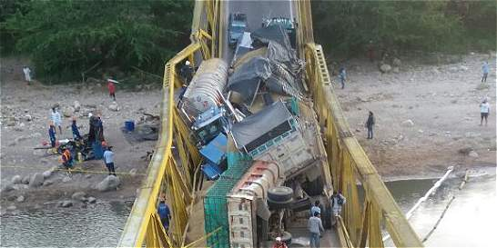 Puente en Yopal colapsó por sobrepeso: Gobernador de Casanare