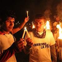 Por la paz, comunidad de Uribe y las Farc se reconciliaron en El Tigre
