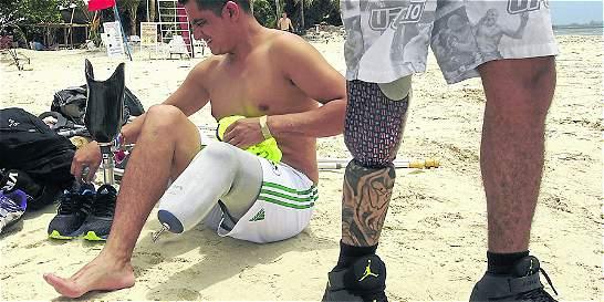Soldados sin piernas dejaron huella en San Andrés