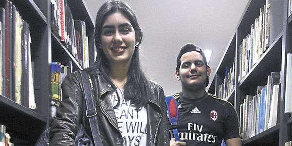 Lohana Giraldo (16 años) y David Noguera (15), decidieron apostar por la Ingeniería.