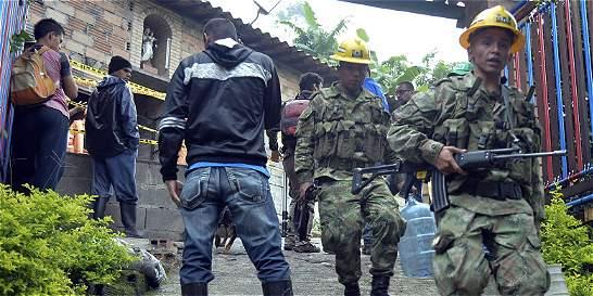 Hay dificultades para extraer cuerpos de mineros en Amagá