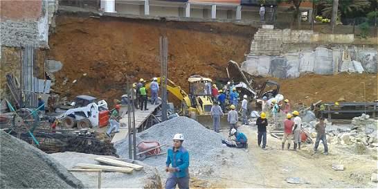 Deslizamiento de tierra deja muerto a un obrero en Medellín