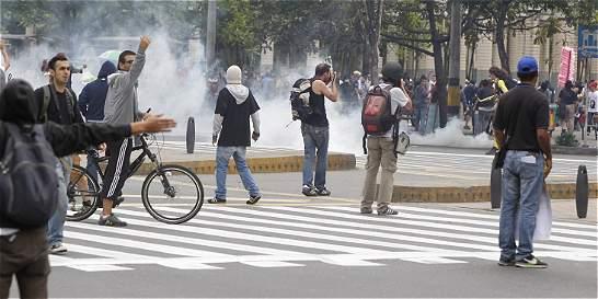 Marcha de trabajadores dejó seis heridos y cinco capturas en Medellín