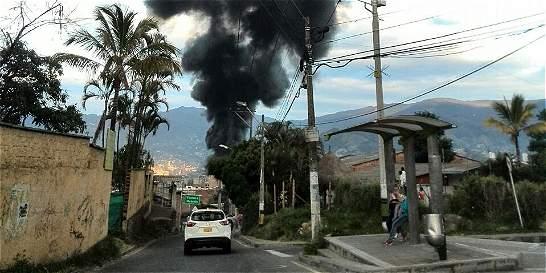 Incendio en fábrica de pinturas asustó a Itagüí