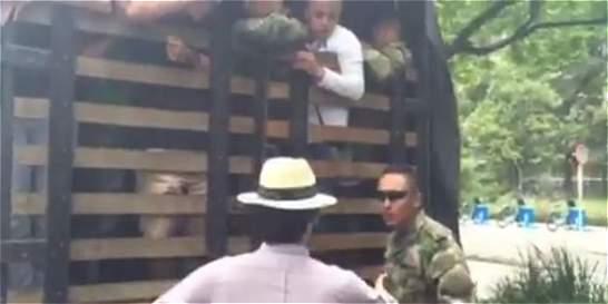 Asistente del congresista Correa atropelló a militar