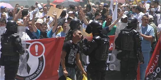Disturbios durante marcha por la salud en Medellín