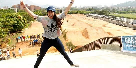 Mariana Pajón reconoció pista de BMX que llevará su nombre en Medellín