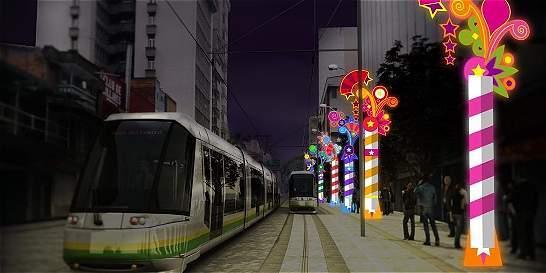 Tranvía de Medellín tendrá iluminación navideña