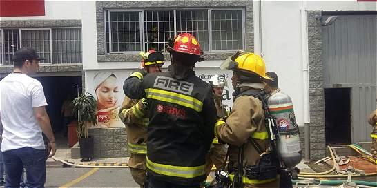 Incendio en una empresa de Itagüí