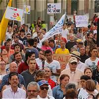 Así fue la marcha en Medellín que rechazó la venta de Isagén