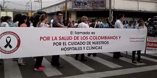 Hospitales de Medellín protestan para exigir mejores condiciones