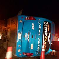 Bebé de dos meses muere en accidente de bus en Antioquia