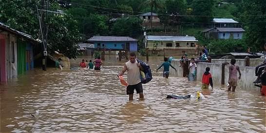 Más de 3.000 personas damnificadas por lluvias en Antioquia