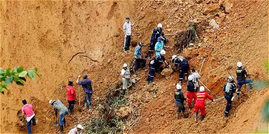 A nueve asciende cifra de muertos de alud de tierra en Chocó