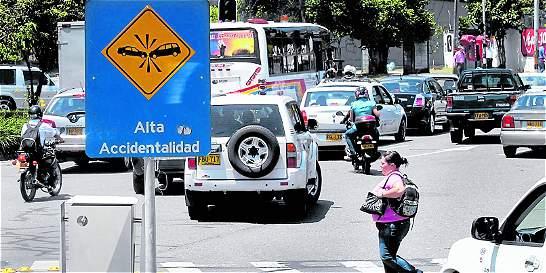 Estos son los lugares con más accidentes en Medellín