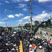 Hinchas de Nacional colapsaron vía Medellín - Bogotá