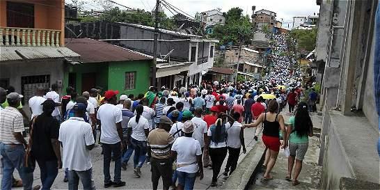 Habitantes de Chocó preparan marcha multitudinaria para el lunes